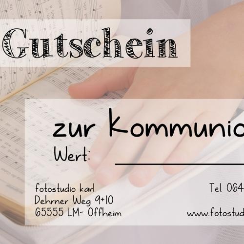 Gutschein Kommunion